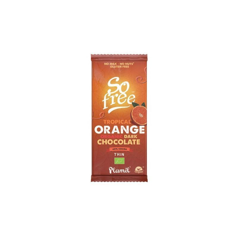 SO FREE CHOCOLATE TROPICAL NARANJA ECO 60% 80GR